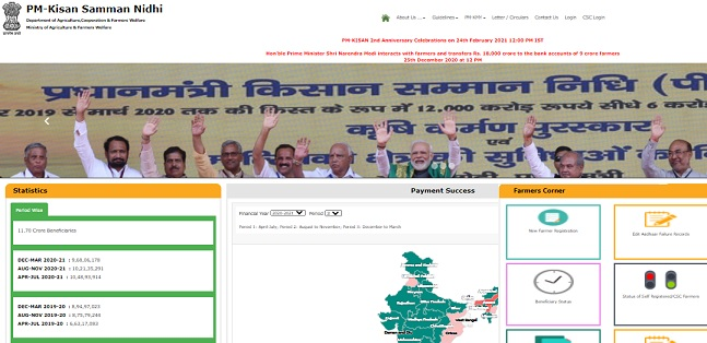 PM Kisan Samman Nidhi Yojana 2021 - Login Apply Online Registration Beneficiary Status Application Form