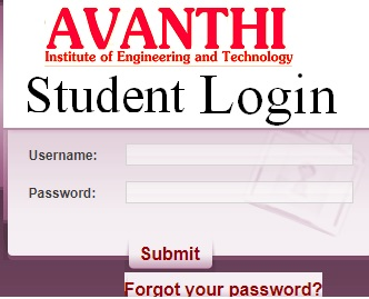 Avanthi Student Portal - Faculty Login, Online Registration, Results at aietta.ac.in