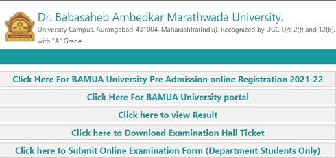 BAMU Online Exam Form 2021 - Ba, Bsc, BCom, 1st Year, 2nd Year, 3rd Year Apply Online, Application Form, Last Date