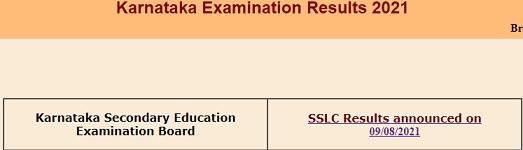[Karresults.nic.in] Karnataka SSLC Result 2021- School Wise, Name Wise, District Wise Topper List, Percentage