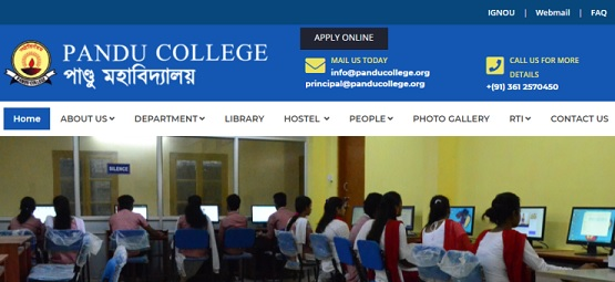 Pandu College Online Admission 2021 - Apply Online, Registration Process, UG-PG Application Form, Fees Structure, Eligibility Criteria, Merit List